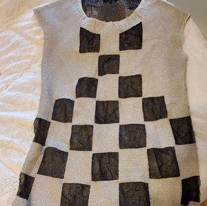 Sheer checkered dress